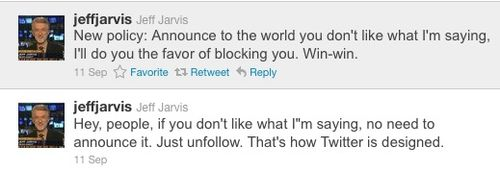 Jarvis_unfollow tweets